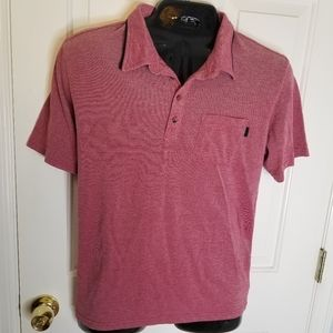 Oakley Large Polo Red Shirt Golf Mens
